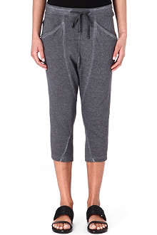 HELMUT LANG Cropped jersey jogging bottoms