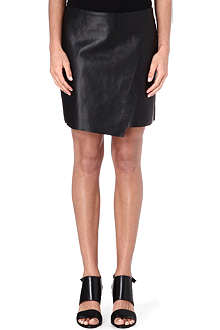 HELMUT LANG Wrap-front leather skirt