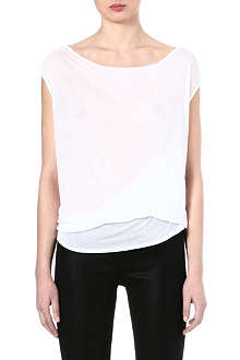 HELMUT LANG Slack draped jersey top