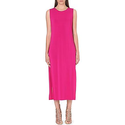 HELMUT LANG Split-sides stretch-jersey dress (Fuchsia