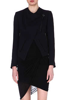 HELMUT LANG Sugar draped crepe jacket