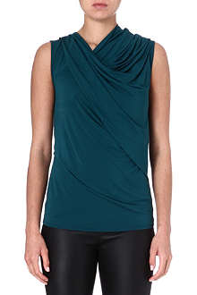 HELMUT LANG Sleeveless draped jersey top