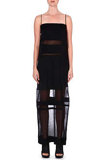 HELMUT LANG Sheer-panel dress