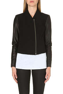 HELMUT LANG Contrasting leather biker jacket