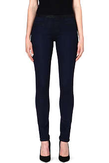 HELMUT LANG Coated skinny mid-rise jeans