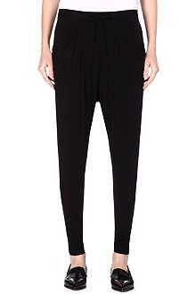 HELMUT LANG Drawstring-waist jersey trousers