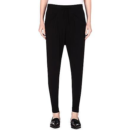 HELMUT LANG Drawstring-waist jersey trousers (Black
