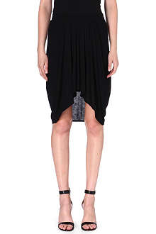 HELMUT LANG Pleated jersey skirt