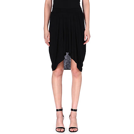 HELMUT LANG Pleated jersey skirt (Black