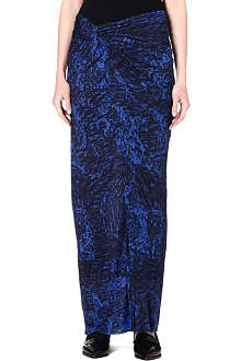 HELMUT LANG Printed jersey maxi skirt