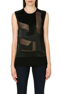 HELMUT LANG Sheer-panelled top