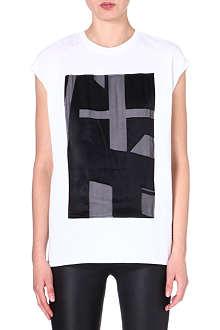 HELMUT LANG Contrast panel t-shirt