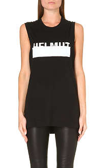 HELMUT LANG Sleeveless branded top