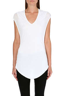 HELMUT LANG Twist-back jersey top
