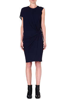 HELMUT LANG Twist-detail crepe dress