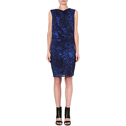 HELMUT LANG Patterned jersey dress (Black/multi