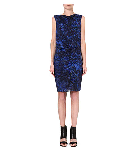 HELMUT LANG Patterned jersey dress (Black/multi