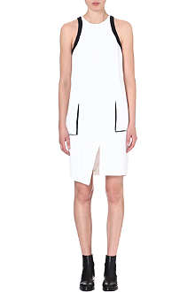 HELMUT LANG Contrast-detail crepe dress