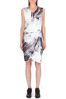 HELMUT LANG Tidal print dress