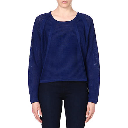HELMUT LANG Knitted cotton jumper (Blue