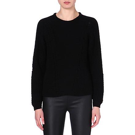 HELMUT LANG Knitted long-sleeved jumper (Black