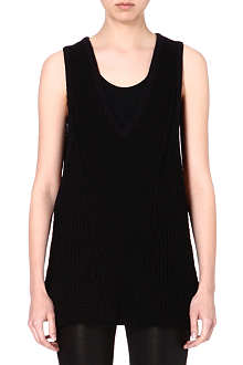 HELMUT LANG V-neck knitted top