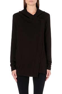 HELMUT LANG Villous zip-up jersey hoody
