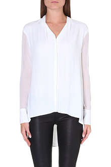 HELMUT LANG Sheer-detail stretch-crepe shirt