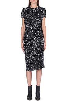 HELMUT LANG Abstract print jersey dress