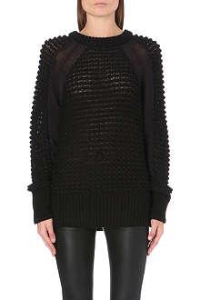 HELMUT LANG Plove macro-grid knitted jumper