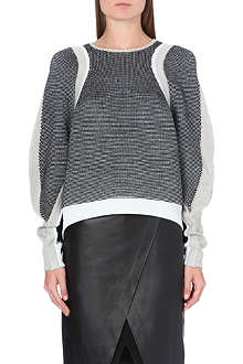 HELMUT LANG Contrast panel knitted jumper