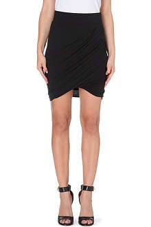 HELMUT LANG Ruched twist-detail skirt