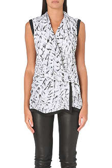 HELMUT LANG Annex silk wrap top