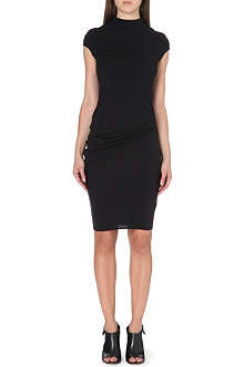 HELMUT LANG Ruched-detail jersey dress