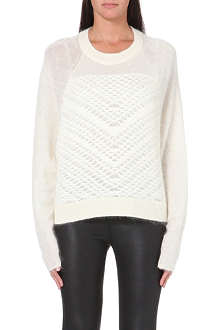 HELMUT LANG Textured-panel jumper