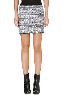 HELMUT LANG Variant grid knitted mini skirt