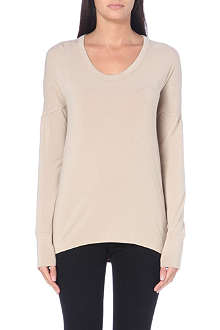HELMUT LANG Nova draped-back jersey top