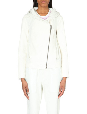 HELMUT LANG Wither hooded leather jacket