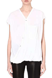 HELMUT LANG Draped jersey top
