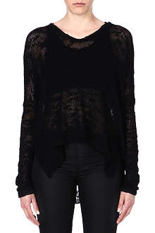 HELMUT LANG Sheer-detail silk jumper