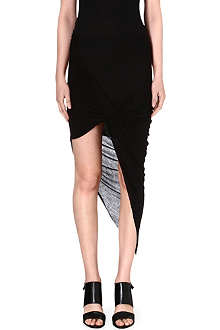 HELMUT LANG Kinetic asymmetric draped jersey skirt