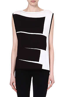 HELMUT LANG Litho-print sleeveless top