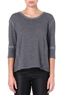 HELMUT LANG Cropped-sleeve jersey top