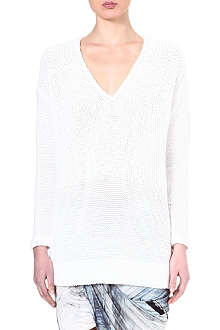 HELMUT LANG Augmented knitted jumper