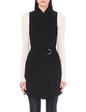 HELMUT LANG Torsion stretch-crepe waistcoat
