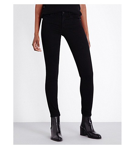 HELMUT LANG The Ankle Skinny mid-rise jeans (Black
