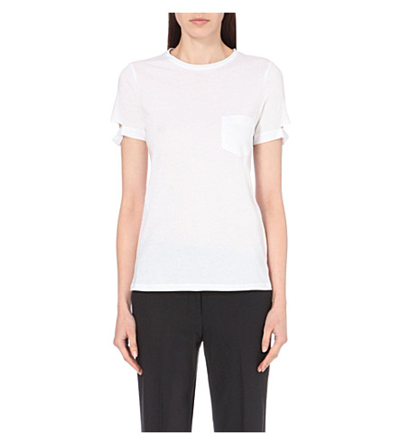 HELMUT LANG Pocket cotton-jersey t-shirt (White