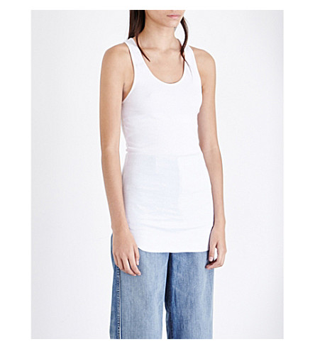 HELMUT LANG Racerback cotton-jersey top (White
