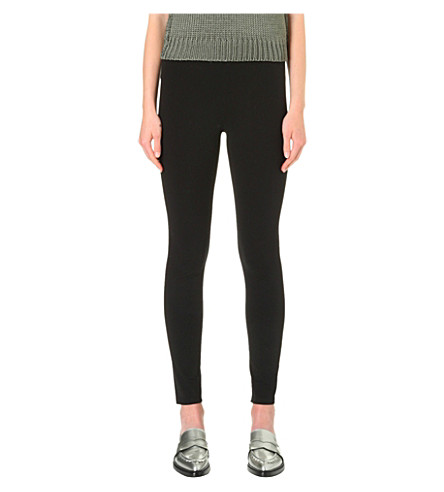 HELMUT LANG Basic Reflex stretch-gabardine leggings (Black
