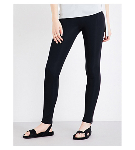 HELMUT LANG High-rise stretch-jersey leggings (Black